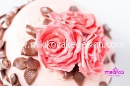 Immagine di un particolare della torta di compleanno in PDZ per Patrizia
