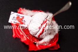 Immagine del cervello in pasta di zucchero per il contest di halloween