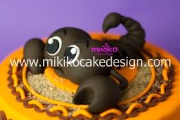 Immagine del particolare della torta dello scorpione in PDZ
