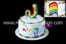 Per gli amanti di Ghost trappers un bella Rainbow Cake con Rainbow Ghost in PDZ