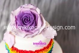 Immagine della rosa in pdz della torta di compleanno di Michy