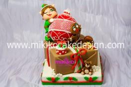 Immagine della Torta vincitrice del premio messo in palio da Crea e Decora su My Cake Design dicembre 2012