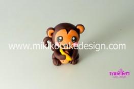Scimmietta in pasta di zucchero - tutorial passo passo