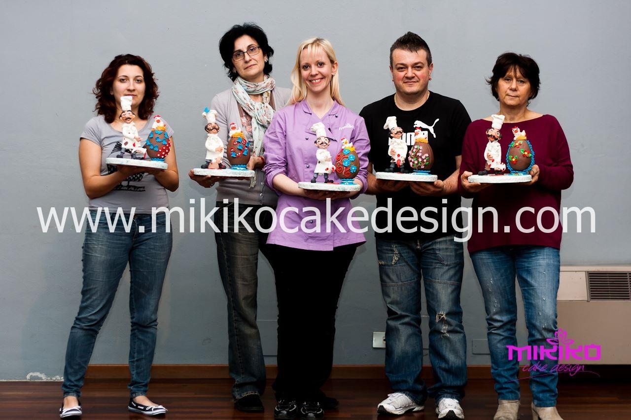 Foto di gruppo del corso di Cake Design di Aprile 2014