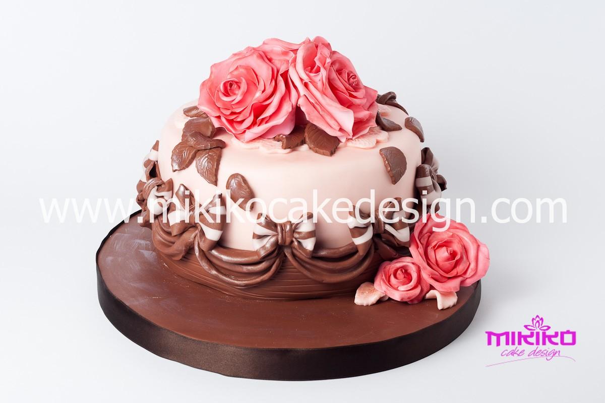 Immagine della torta di compleanno in PDZ per Patrizia