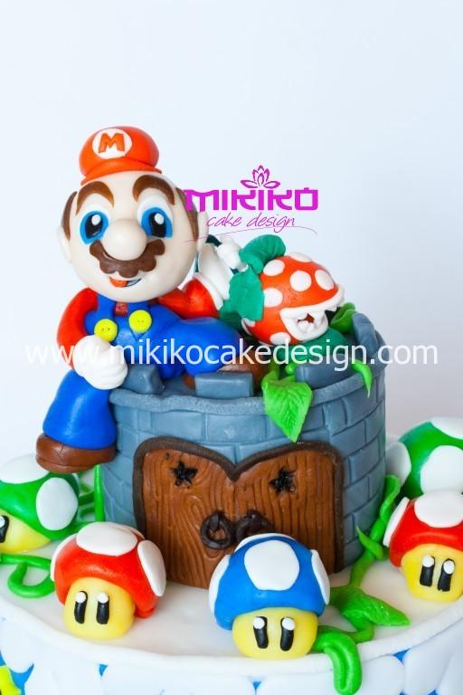 Immagine dettaglio della torta Super Mario in PDZ