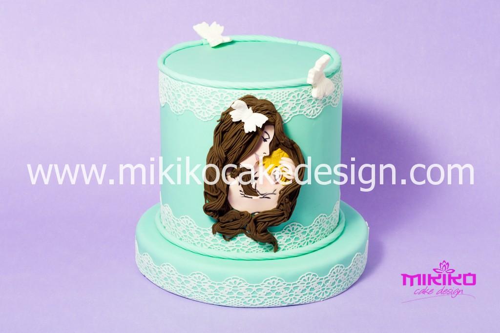 Torta decorata in PDZ Festa della mamma - Mikiko Cake Design