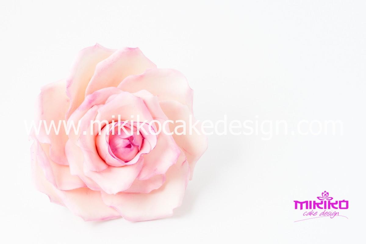 Rosa in pasta di gomma - Mikiko Cake Design