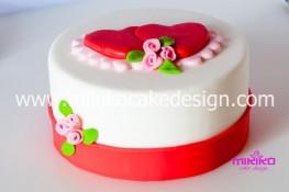 Tutorial passo passo torta decorata in pasta di zucchero per San Valentino-20 - 1024
