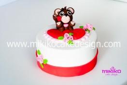 Tutorial passo passo torta decorata in pasta di zucchero per San Valentino-66 - 1024