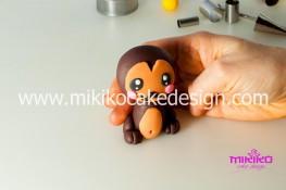Tutorial passo passo animaletto pasta di zucchero Scimmietta Kawaii-28 - 1200