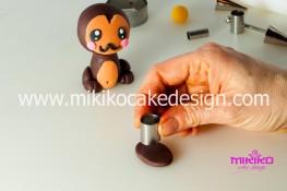 Tutorial passo passo animaletto pasta di zucchero Scimmietta Kawaii-29 - 1200