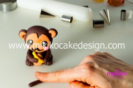 Tutorial passo passo animaletto pasta di zucchero Scimmietta Kawaii-38 - 1200