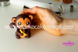 Tutorial passo passo animaletto pasta di zucchero Scimmietta Kawaii-39 - 1200