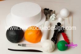 Torta pasta di zucchero per Halloween tuorial decorazioni passo passo (1)