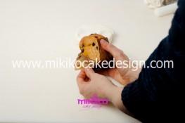 Piccolo panettone decorato con pasta di zucchero - Idee per Natale-08