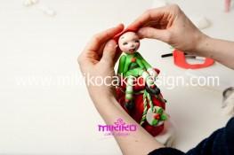 Piccolo panettone decorato con pasta di zucchero - Idee per Natale-76