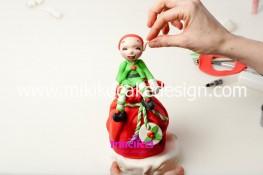 Piccolo panettone decorato con pasta di zucchero - Idee per Natale-78