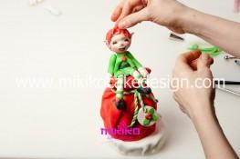 Piccolo panettone decorato con pasta di zucchero - Idee per Natale-80