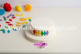 Torta di Carnevale in pasta di zucchero - pdz-10