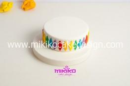 Torta di Carnevale in pasta di zucchero - pdz-11