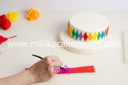 Torta di Carnevale in pasta di zucchero - pdz-12