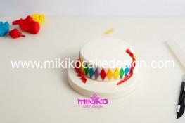 Torta di Carnevale in pasta di zucchero - pdz-14