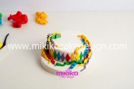 Torta di Carnevale in pasta di zucchero - pdz-15