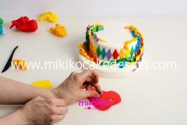 Torta di Carnevale in pasta di zucchero - pdz-16