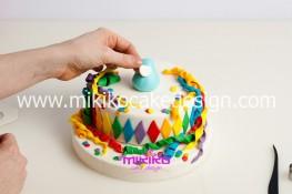 Torta di Carnevale in pasta di zucchero - pdz-22