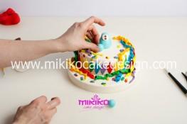 Torta di Carnevale in pasta di zucchero - pdz-26