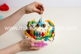 Torta di Carnevale in pasta di zucchero - pdz-33