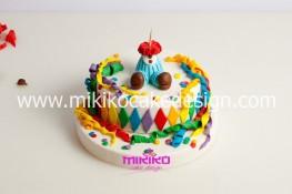 Torta di Carnevale in pasta di zucchero - pdz-36