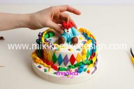 Torta di Carnevale in pasta di zucchero - pdz-39