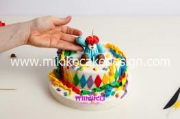 Torta di Carnevale in pasta di zucchero - pdz-40