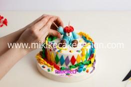Torta di Carnevale in pasta di zucchero - pdz-41