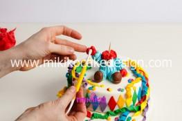 Torta di Carnevale in pasta di zucchero - pdz-45