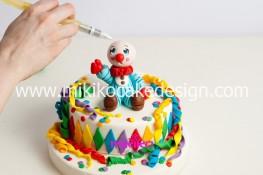 Torta di Carnevale in pasta di zucchero - pdz-62