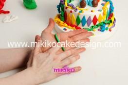 Torta di Carnevale in pasta di zucchero - pdz-63