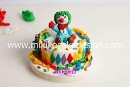 Torta di Carnevale in pasta di zucchero - pdz-66