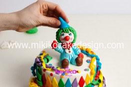 Torta di Carnevale in pasta di zucchero - pdz-69