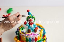 Torta di Carnevale in pasta di zucchero - pdz-71