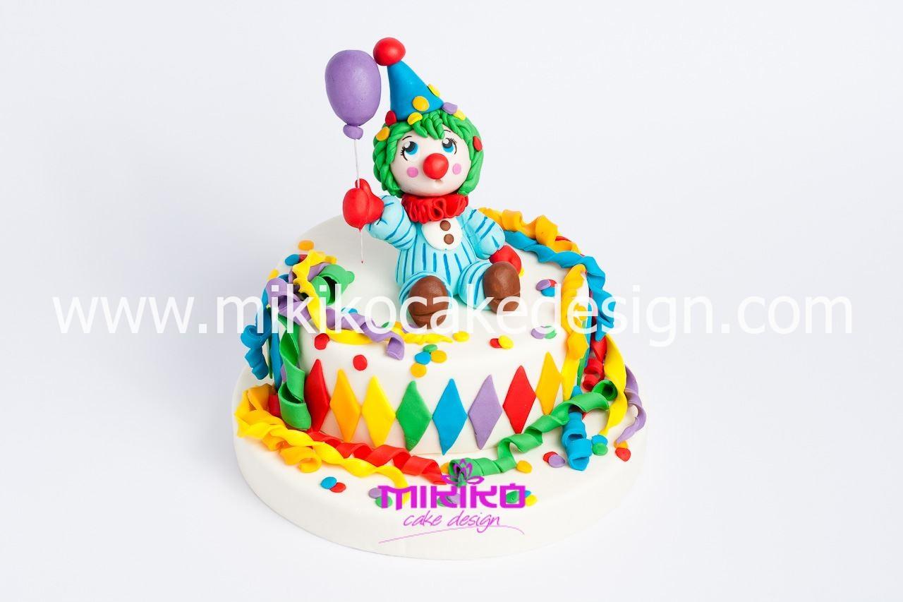 Immagine della torta per carnevale per il tutorial passo passo