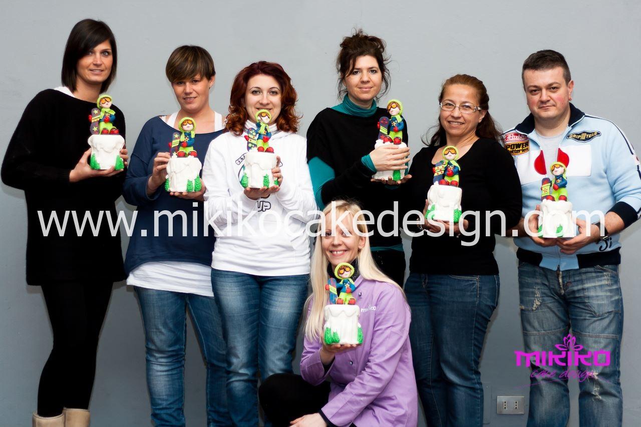 Foto di gruppo Con i corsisti del Corso di Cake Design febbraio 2014