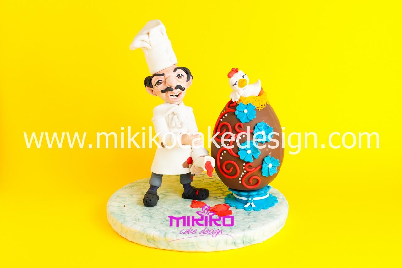 Immagine del pasticcere Pasquale in PDZ che realizzaremo al corso di cake design