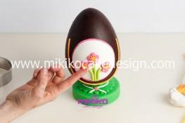 Tutorial uova di pasqua decorate con pasta di zucchero-35