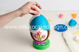 Tutorial uova di pasqua decorate con pasta di zucchero-44