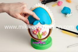 Tutorial uova di pasqua decorate con pasta di zucchero-50