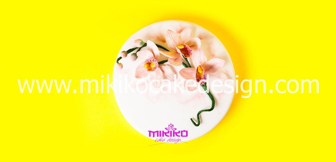 Immagine dell'orchidea che realizzeremo al corso di cake design