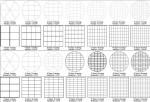 Immagine con vari schemi di taglio per torte tonde e quadrate